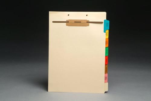 Medical Fileback Divider Set - Side Tabs - 8 Tab Titles - Top Fastener - 20 Sets/Box