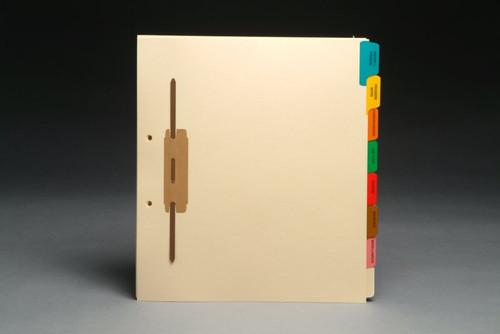 Medical Fileback Divider Set - Side Tabs - 8 Tab Titles - Side Fastener - 20 Sets/Box