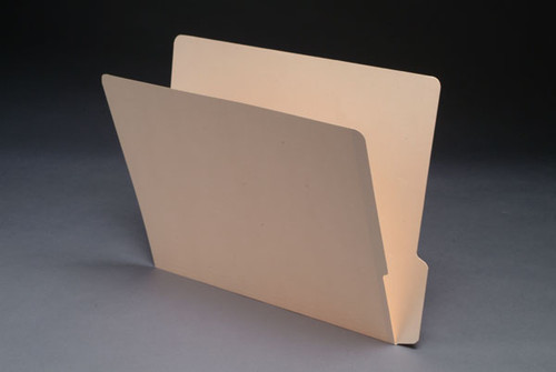 End Tab Folder with 1/3 Cut Bottom 2-Ply End Tab - Letter Size - 11 Pt. Manila - 100/Box