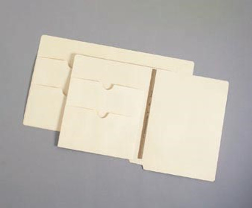 11 Pt. End Tab Pocket Folder with Double Pocket-U-File-M Strip - Box of 50 - S-09093