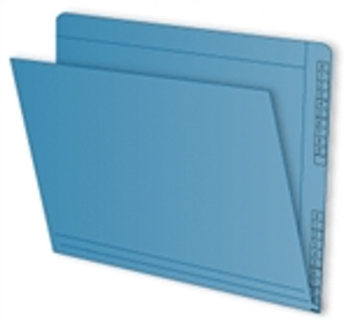 """End/Top Tab Numeric Kardex Folders - Letter Size - 3/4"""" Expansion - Blue - 100/Box"""