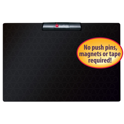 "Justick by Smead, Frameless Mini Bulletin Board 16""W x 24""H, with Justick Surface Technology, Black (02547)"