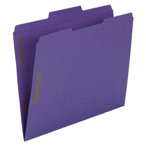 Smead Fastener File Folder 13040, 2 Fasteners, Reinforced 1/3-Cut Tab, Letter, Purple - 5 Boxes