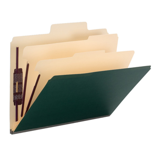 Find critical files fast with SuperTab top tab classification folders. Get nearly double the labeling area of a standard classification folder, so you can write bigger or use more lines of description. Protect your documents and fingers with Smead's