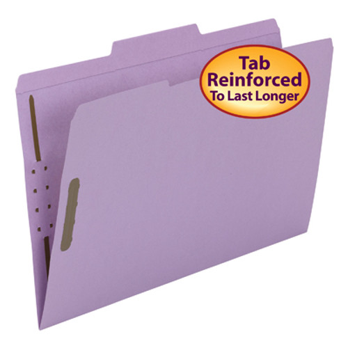 Smead Fastener File Folder 17440, 2 Fasteners, Reinforced 1/3-Cut Tab, Legal, Lavender - Total of 5