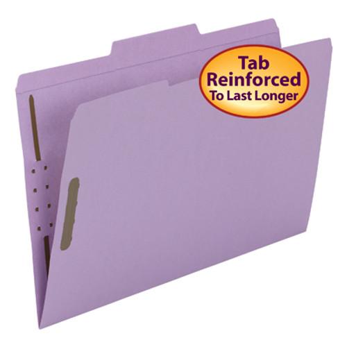 Smead Fastener File Folder 17440, 2 Fasteners, Reinforced 1/3-Cut Tab, Legal, Lavender - Total of 5