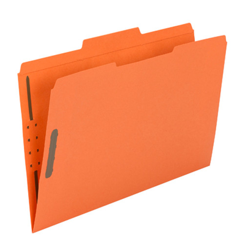 Smead Fastener File Folder 17540, 2 Fasteners, Reinforced 1/3-Cut Tab, Legal, Orange - Total of 5