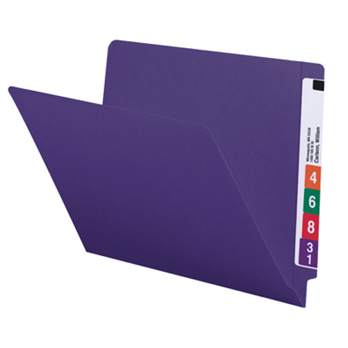 Smead End Tab File Folder 25420, Shelf-Master® Reinforced Straight-Cut Tab, Letter, Purple