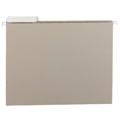 Smead Hanging File Folder with Tab 64027, 1/3-Cut Adjustable Tab, Letter, Gray