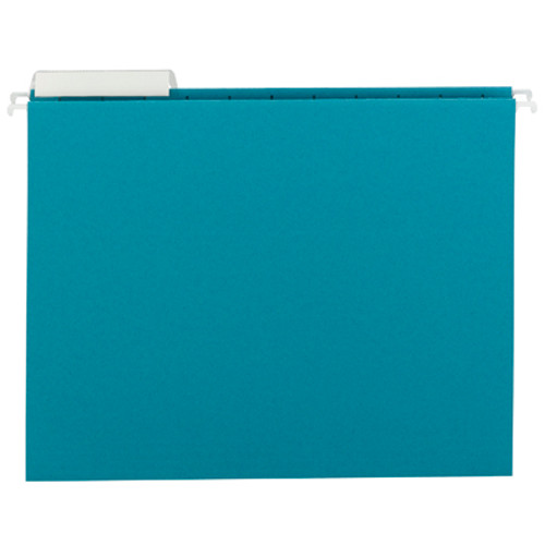 Smead Hanging File Folder with Tab 64033, 1/3-Cut Adjustable Tab, Letter, Teal