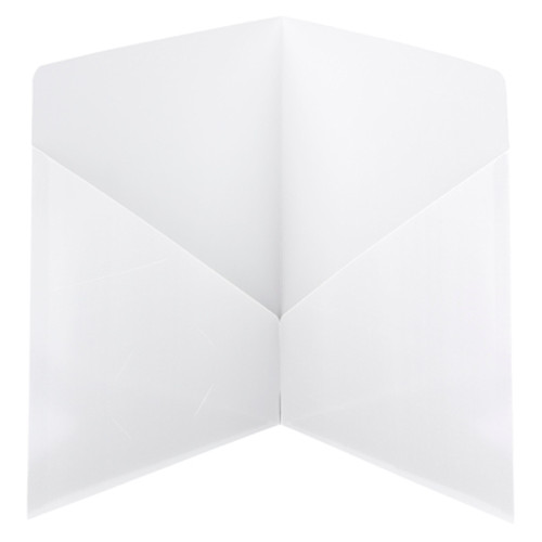 Smead Contemporary Two-Pocket File Folder 87962, Up to 50 Sheets, Letter, White