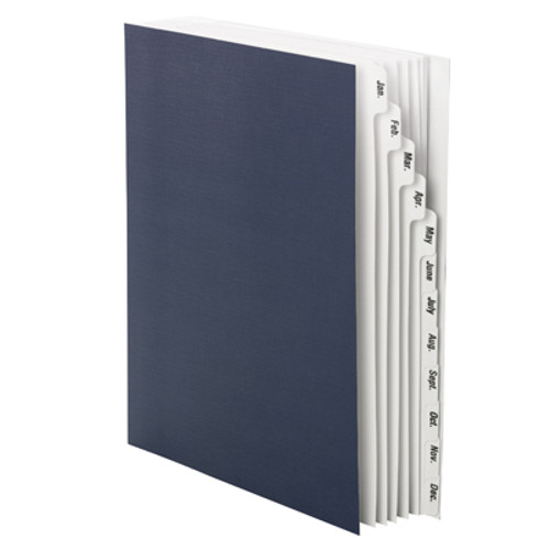 Smead Monthly Desk File Sorter, Monthly (Jan.-Dec.) Letter Size, Navy - Total of 5