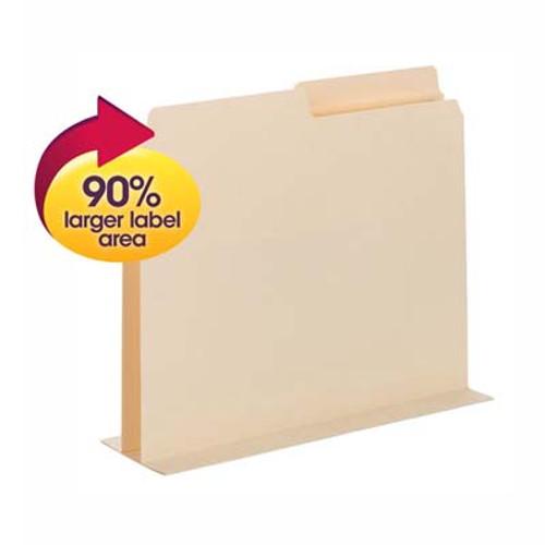 Smead SuperTab® Pocket Divider 68035, Oversized 1/2-Cut Tab, 2 Dividers per Insert, Letter, Manila