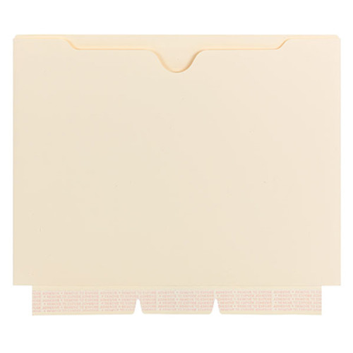 Smead Self-Adhesive Jacket 68040, Manila, Self-Adhesive on Side, Letter Size