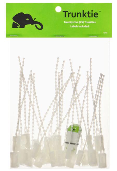 Trunktie Labels Natural 25ct Bag