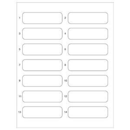 """File Folder Name Labels For Top Tab Folder Application - 3-1/2""""W x 1"""" H - 700 Labels/Pack"""