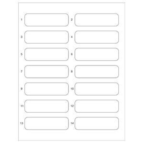 "File Folder Name Labels For Top Tab Folder Application - 3-1/2""W x 1"" H - 700 Labels/Pack"