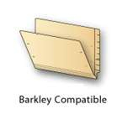 Barkley Compatible End Tab Folder, With Visiclip Installed in Position 1 - Letter Size - 14 Pt. Manila -  Reinforced Full-Cut End Tab - 50/Box