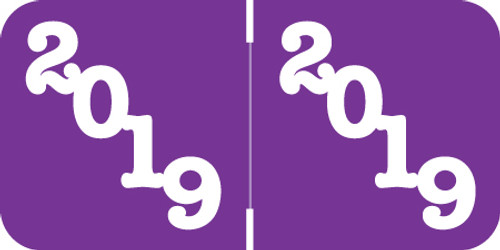 POS Yearband Label - 2019 -  PURPLE YEAR LABEL -  POYM Series - 500/Roll