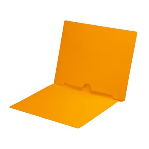 Full Size Back Panel Pocket Folder, 11 Pt. Gold Colored Stock, Full Cut End Tab - Letter Size, 50/Box