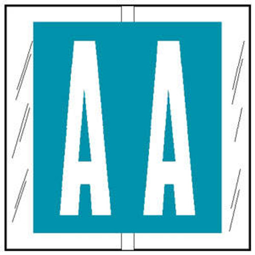 """Col'R'TAB Top Tab Alpha Labels - 82100 Series - Letter 'A' - Light Blue - 1-1/2"""" H x 1-1/2"""" W - Labels on Sheets - 100/Pack"""