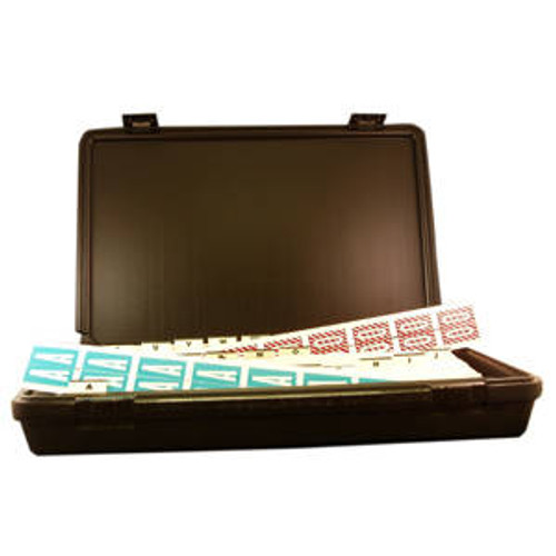 """Col'R'TAB Kit Box Only (Use with 1-1/2"""" Labels) - Black (no labels included)"""