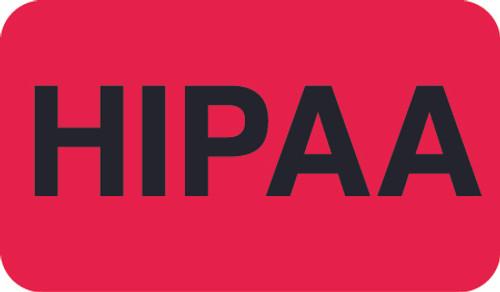 """""""HIPPA"""" Chart Label -  Fl. Red -  1-1/2"""" x 7/8"""" - 250/Roll"""