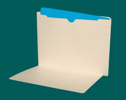 14 Pt. Manila  End Tab Folder with Full Open Top Back Pocket - Full Cut End Tab - Letter Size - Box of 50