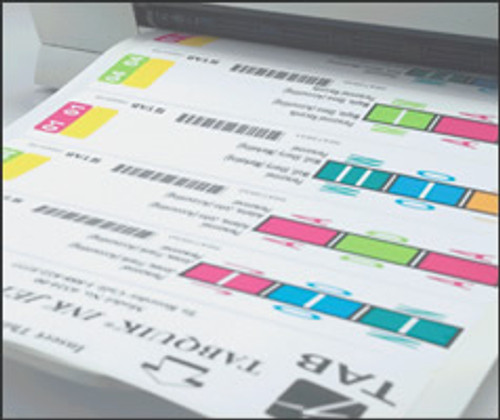 "TabQuick Inkjet  5 Up Labels - 7.75"" x 1.66"" Label Size - 500/Box"