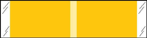 """Tabbies® Kardex Compatible Solid Color Designator Labels, Yellow, 3/8""""H x 1-7/16""""W, 1,000 Labels/Roll"""
