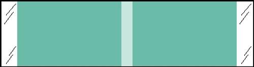 """Tabbies® Kardex Compatible Solid Color Designator Labels, Aqua, 3/8""""H x 1-7/16""""W, 1,000 Labels/Roll"""