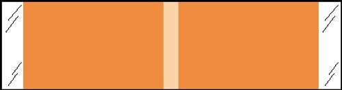 "Tabbies® Kardex Compatible Solid Color Designator Labels, Orange, 3/8""H x 1-7/16""W, 1,000 Labels/Roll"