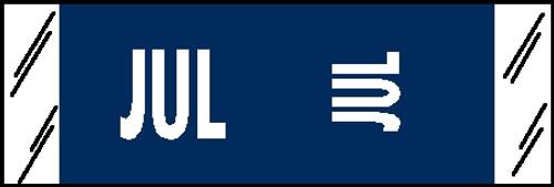 """Tabbies® COL'R'TAB® Horizontal/Vertical Month Tabs, Dark Blue, 1/2""""H x 1-1/2""""W, """"JULY"""" 100/Pack"""
