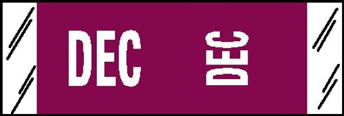 """Tabbies® COL'R'TAB® Horizontal/Vertical Month Tabs, Violet, 1/2""""H x 1-1/2""""W, """"DECEMBER"""" 100/Pack"""