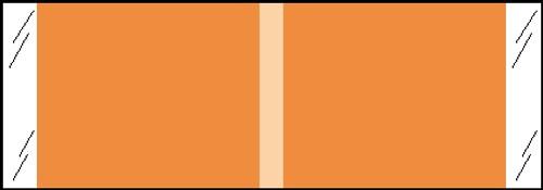 "Tabbies® Kardex Compatible Solid Color Designator Labels, Orange, 1/2""H x 1-7/16""W, 1,000 Labels/Roll"