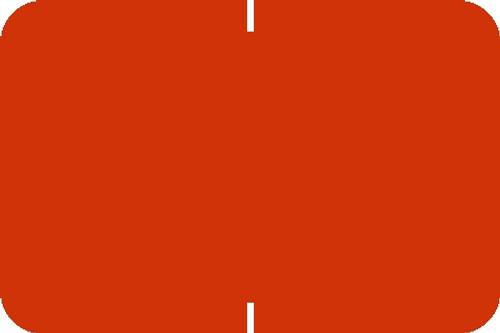 "Tabbies® Original 70520 Solid Designator Labels, Orange, 1""H x 1-1/2""W, 252 Labels/Pack"