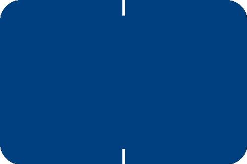 "Tabbies® Original 70520 Solid Designator Labels, Blue, 1""H x 1-1/2""W, 252 Labels/Pack"