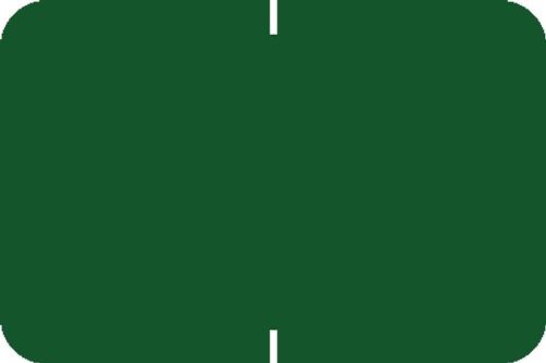"Tabbies® Original 70520 Solid Designator Labels, Green, 1""H x 1-1/2""W, 252 Labels/Pack"