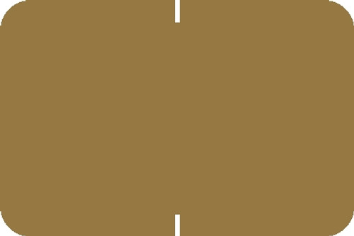 "Tabbies® Original 70520 Solid Designator Labels, Gold, 1""H x 1-1/2""W, 252 Labels/Pack"