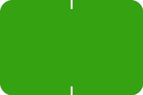 "Tabbies® Original 70520 Solid Designator Labels, Light Green, 1""H x 1-1/2""W, 252 Labels/Pack"