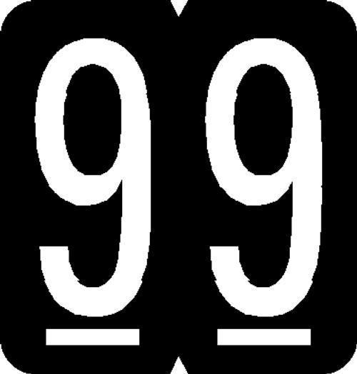 """Tabbies® GBS/VRE Compatible 91300 Numeric Labels, Black, 1-5/16""""H x 1-1/4""""W, """"#9"""", 550 Labels/Roll"""