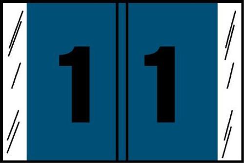 "Tabbies® Original COL'R'TAB® Digi-Kolor Numeric 14560 Labels, Blue, 1""H x 1-1/2""W, ""#1"", 500 Labels/Roll"