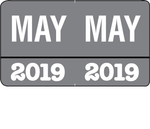 "Month/Year Labels 2019 - May - 225 Labels Per Pack - 1-1/2"" W x 1"" H"