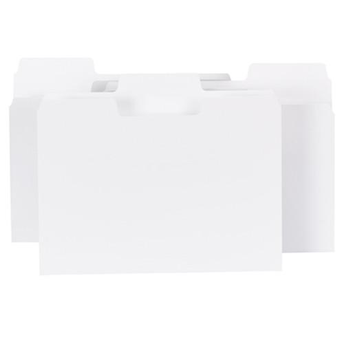 Smead SuperTab® File Folder, Oversized 1/3-Cut Tab, Letter Size, White, 100 per Box (11980)