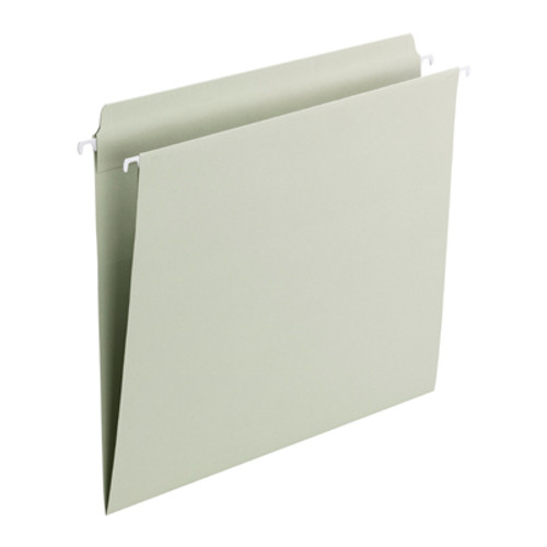 Smead FasTab® Hanging File Folder, Straight-Cut Built-In Tab, Letter Size, Moss, 20 per Box (64101)
