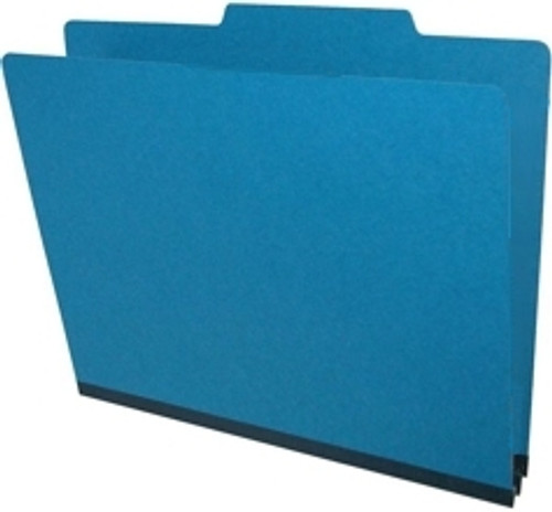 """Top Tab Type III Pressboard Folder in Royal Blue Color with 2"""" Tyvek Expansion - Letter Size -  Fasteners in Positions 1 & 3 - 25/Box"""