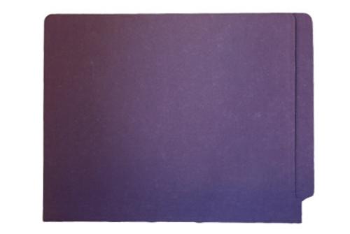 Purple End Tab File Folder w/ Fasteners in Positions 5 & 7 -  Letter Size - 14 pt - Reinforced Full End Tab - 250/Carton