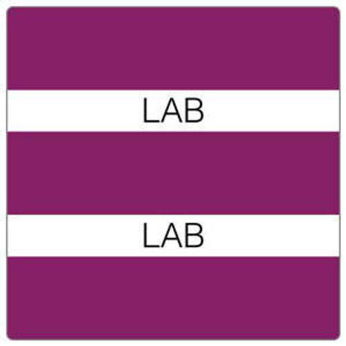 """Patient Chart Index Tabs/Labels - """"Lab"""" -  Purple - 1/2"""" H x 1-1/4"""" W - 102/Pack"""