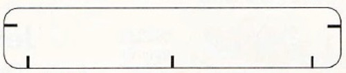 """Jeter Brand Continuous Pin-Feed Name Labels - 3 1/2""""W x 5/8""""H - Includes Alignment Marks -  Pkg of 1000"""