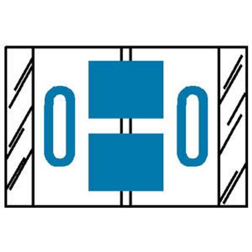 "TAB Compatible 84100 Series Alpha Labels - 'O' - Blue - 1"" H x 1-1/2"" W - Labels on Sheets - 100 Labels Per Pack (10 Labels Per Strip)"